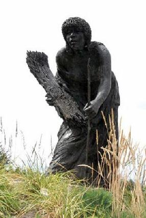 Beeld van Ruth in de Bijbelse Tuin in Hoofddorp